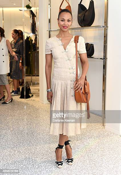 Actress Zoe Saldana attends Joseph Altuzarra Luncheon hosted by Barneys New York Zoe Saldana and Petra Flannery at Barneys New York Beverly Hills on...
