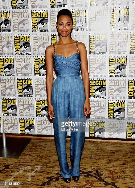 Actress Zoe Saldana attends Marvel Studios' 'Guardians of The Galaxy' press line during ComicCon International 2013 at the Hilton San Diego Bayfront...