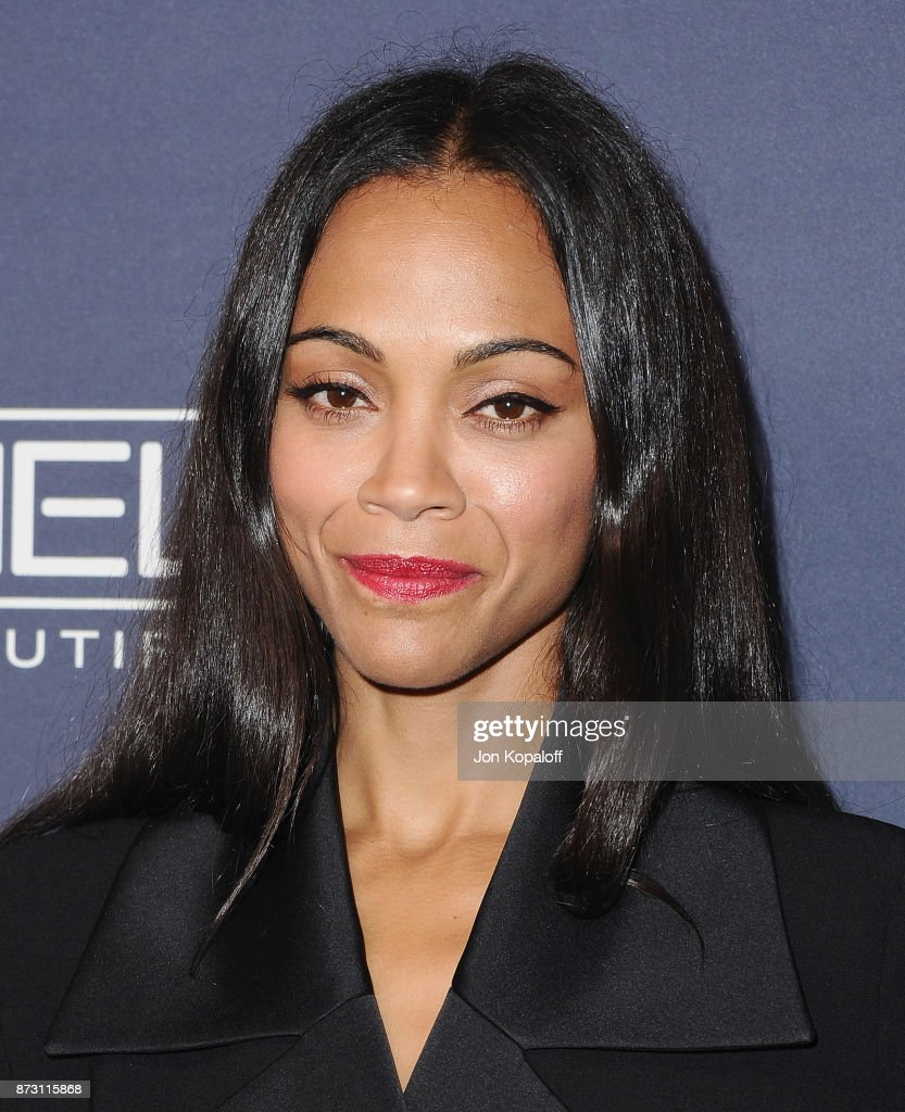 Actress Zoe Saldana attends the 2017 Baby2Baby Gala at 3LABS on November 11, 2017 in Culver City, California.