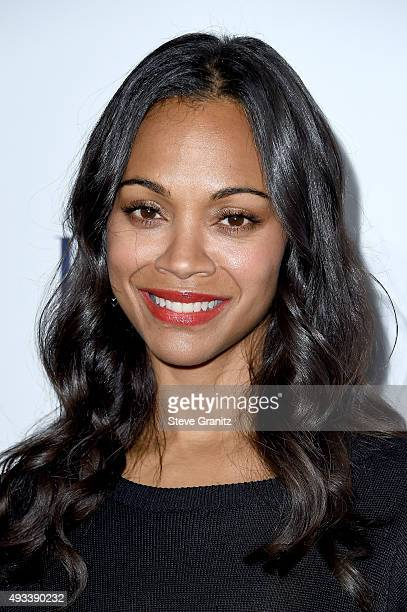 Actress Zoe Saldana attends the 22nd Annual ELLE Women in Hollywood Awards at Four Seasons Hotel Los Angeles at Beverly Hills on October 19 2015 in...