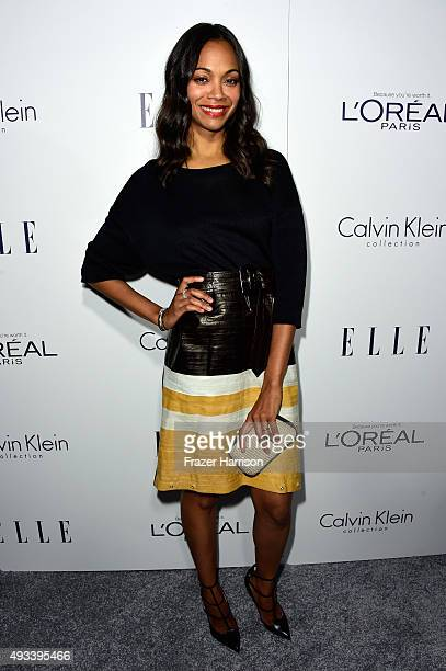 Actress Zoe Saldana attends the 22nd Annual ELLE Women in Hollywood Awards presented by Calvin Klein Collection L'Oréal Paris and David Yurman at the...
