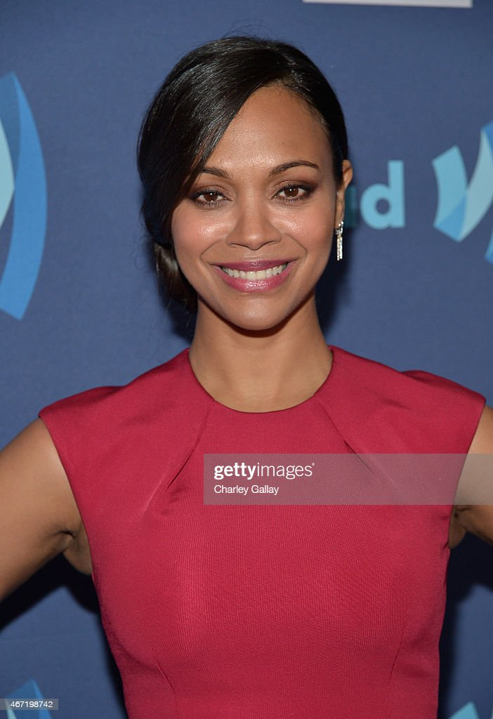 Actress Zoe Saldana attends the 26th Annual GLAAD Media Awards at The Beverly Hilton Hotel on March 21, 2015 in Beverly Hills, California.