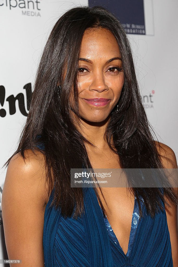 Actress <a gi-track='captionPersonalityLinkClicked' href=/galleries/search?phrase=Zoe+Saldana&family=editorial&specificpeople=542691 ng-click='$event.stopPropagation()'>Zoe Saldana</a> attends the 3rd Annual Share Our Strength No Kid Hungry Los Angeles Dinner at Ron Burkle's Green Acres Estate on October 29, 2013 in Beverly Hills, California.