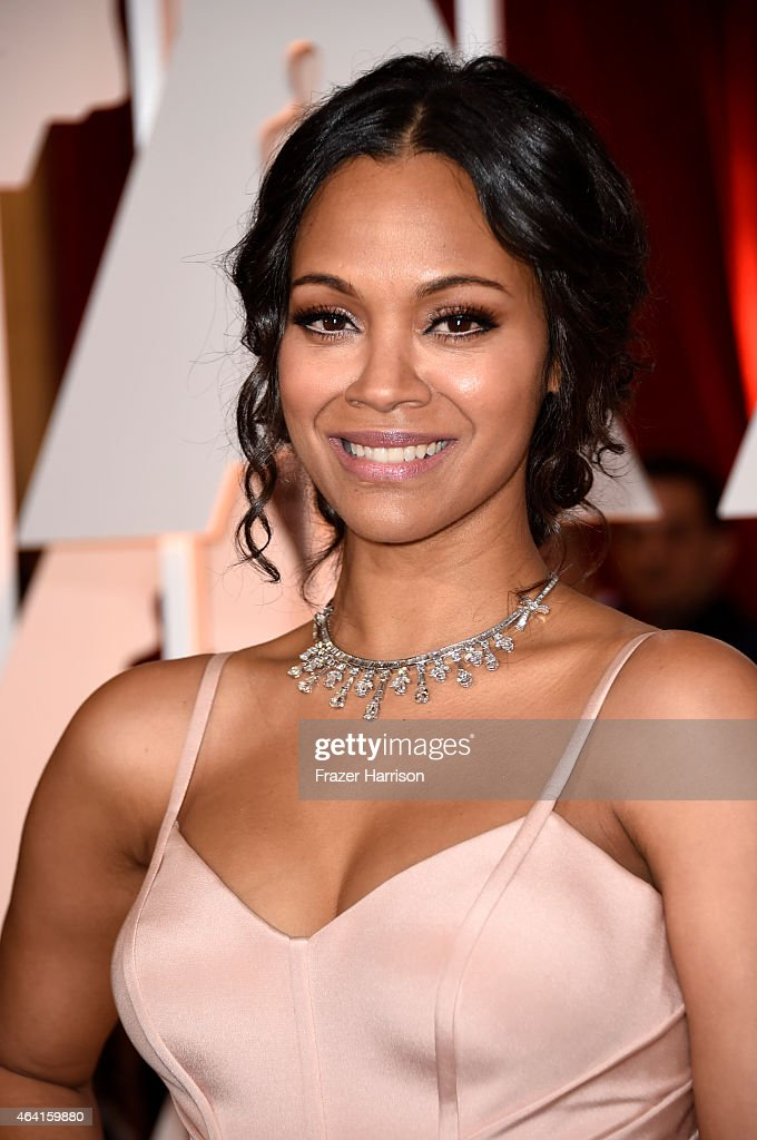 Actress Zoe Saldana attends the 87th Annual Academy Awards at Hollywood Highland Center on February 22 2015 in Hollywood California