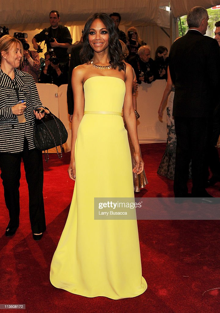 Actress Zoe Saldana attends the 'Alexander McQueen: Savage Beauty' Costume Institute Gala at The Metropolitan Museum of Art on May 2, 2011 in New York City.
