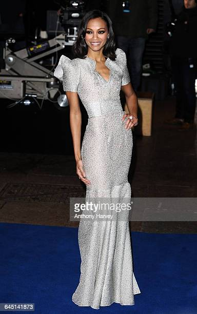 Actress Zoe Saldana attends the 'Avatar' Premiere at the Odeon Cinema Leicester Square on December 10 2009 in London