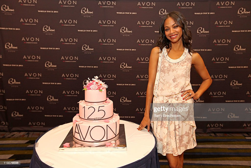 Actress Zoe Saldana attends the AVON Believe World tour on April 29, 2011 in Chicago, Illinois.