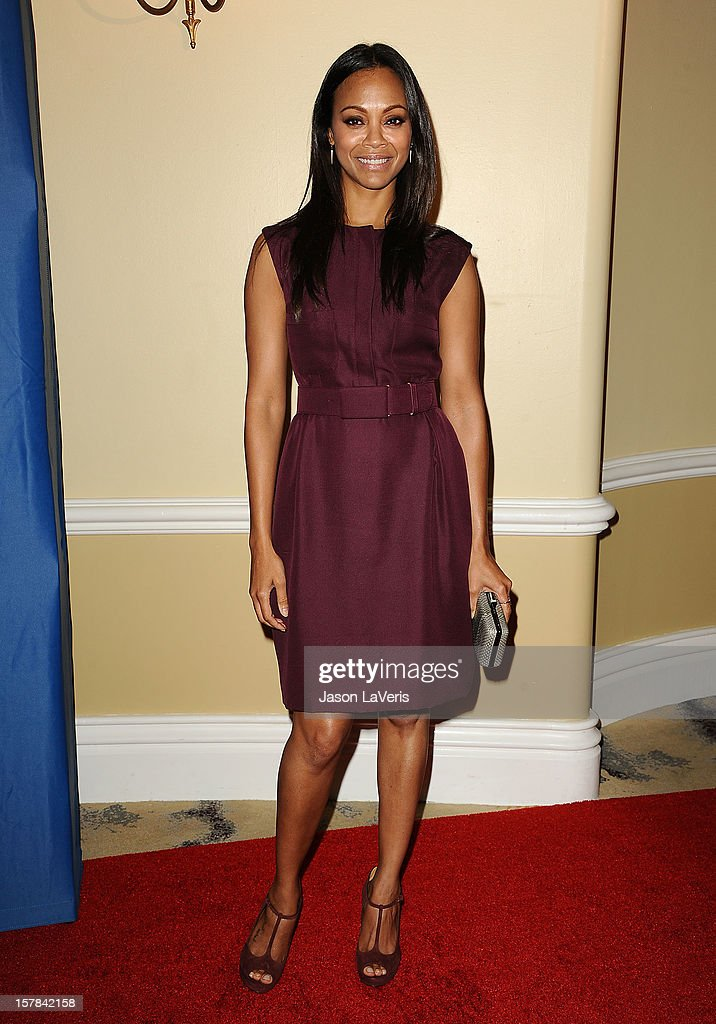 Actress <a gi-track='captionPersonalityLinkClicked' href=/galleries/search?phrase=Zoe+Saldana&family=editorial&specificpeople=542691 ng-click='$event.stopPropagation()'>Zoe Saldana</a> attends the Children's Defense Fund's 22nd annual 'Beat the Odds' Awards at the Beverly Hills Hotel on December 6, 2012 in Beverly Hills, California.
