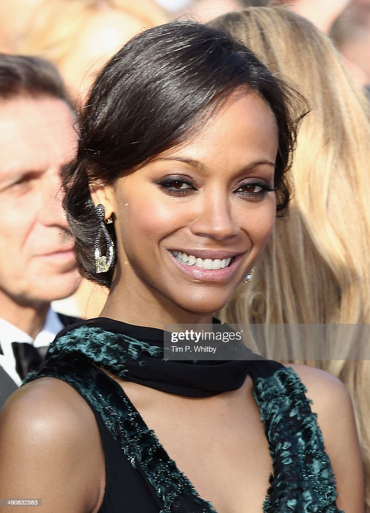 Actress Zoe Saldana attends the 'Mr. Turner' premiere during the 67th Annual Cannes Film Festival on May 15, 2014 in Cannes, France.