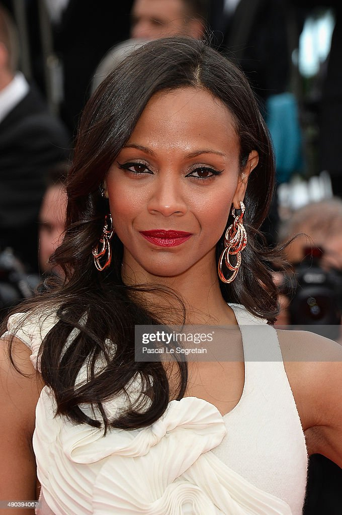 Actress Zoe Saldana attends the Opening ceremony and the 'Grace of Monaco' Premiere during the 67th Annual Cannes Film Festival on May 14, 2014 in Cannes, France.