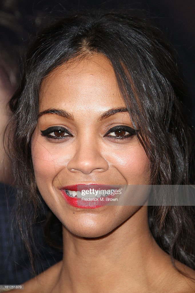 Actress Zoe Saldana attends the Premiere Of CBS Films' 'The Word' at the ArcLight Cinemas on September 4, 2012 in Hollywood, California.