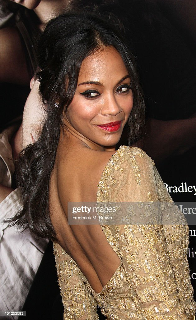 Actress <a gi-track='captionPersonalityLinkClicked' href=/galleries/search?phrase=Zoe+Saldana&family=editorial&specificpeople=542691 ng-click='$event.stopPropagation()'>Zoe Saldana</a> attends the Premiere Of CBS Films' 'The Words' at the ArcLight Cinemas on September 4, 2012 in Hollywood, California.