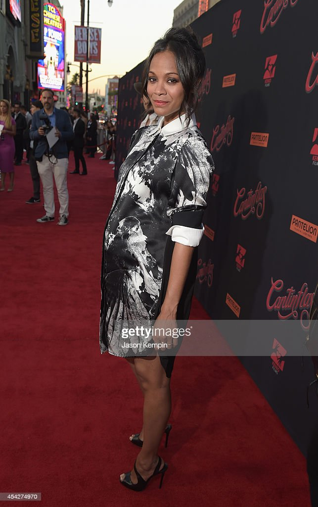 Actress Zoe Saldana attends the premiere of Pantelion Film's 'Cantinflas' at TCL Chinese Theatre on August 27 2014 in Hollywood California