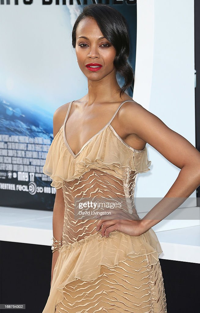 Actress Zoe Saldana attends the premiere of Paramount Pictures' 'Star Trek Into Darkness' at the Dolby Theatre on May 14, 2013 in Hollywood, California.