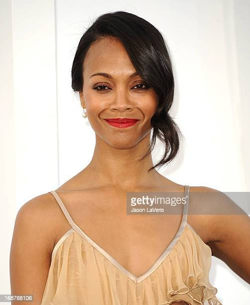Actress Zoe Saldana attends the premiere of 'Star Trek Into Darkness' at Dolby Theatre on May 14 2013 in Hollywood California