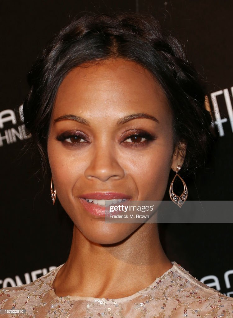 Actress <a gi-track='captionPersonalityLinkClicked' href=/galleries/search?phrase=Zoe+Saldana&family=editorial&specificpeople=542691 ng-click='$event.stopPropagation()'>Zoe Saldana</a> attends the Seventh Annual Hamilton Behind the Camera Awards at The Wilshire Ebell Theatre on November 10, 2013 in Los Angeles, California.