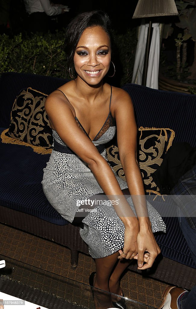 Actress <a gi-track='captionPersonalityLinkClicked' href=/galleries/search?phrase=Zoe+Saldana&family=editorial&specificpeople=542691 ng-click='$event.stopPropagation()'>Zoe Saldana</a> attends the SILVER LININGS PLAYBOOK Event Hosted By Lexus And Purity Vodka at Chateau Marmont on December 7, 2012 in Los Angeles, California.