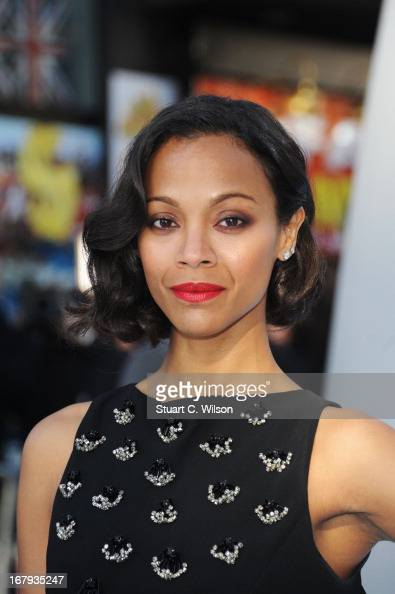 Actress Zoe Saldana attends the UK Premiere of 'Star Trek Into Darkness' at The Empire Cinema on May 2 2013 in London England