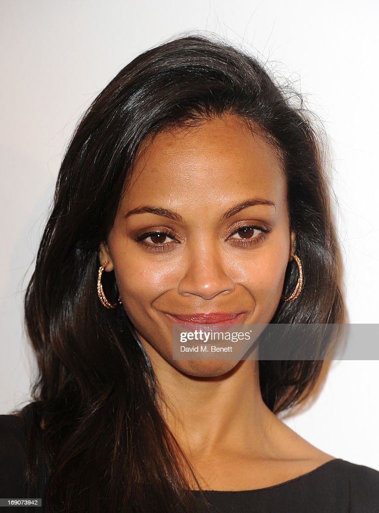Actress Zoe Saldana attends The Weinstein Company Party in Cannes hosted by Lexus and Chopard at Baoli Beach on May 19, 2013 in Cannes, France.