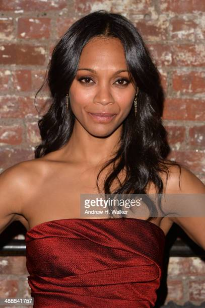 Actress Zoe Saldana attends the Whitney Art Party sponsored by Max Mara at Highline Stages on May 8 2014 in New York City