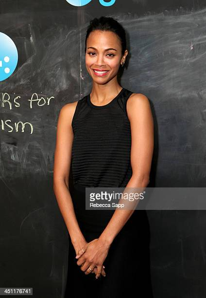 Actress Zoe Saldana attends Variety Awards Studio Day 2 at the Leica Gallery and Store on November 21 2013 in West Hollywood California