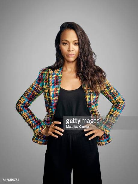 Actress Zoe Saldana from 'Guardians of the Galaxy Vol 2' is photographed for Entertainment Weekly Magazine on July 23 2016 at Comic Con in the Hard...