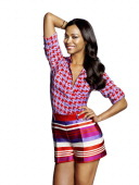 Actress Zoe Saldana is photographed for Latina Magazine on February 22 2013 in Los Angeles California COVER IMAGE ON DOMESTIC EMBARGO UNTIL AUGUST 1...