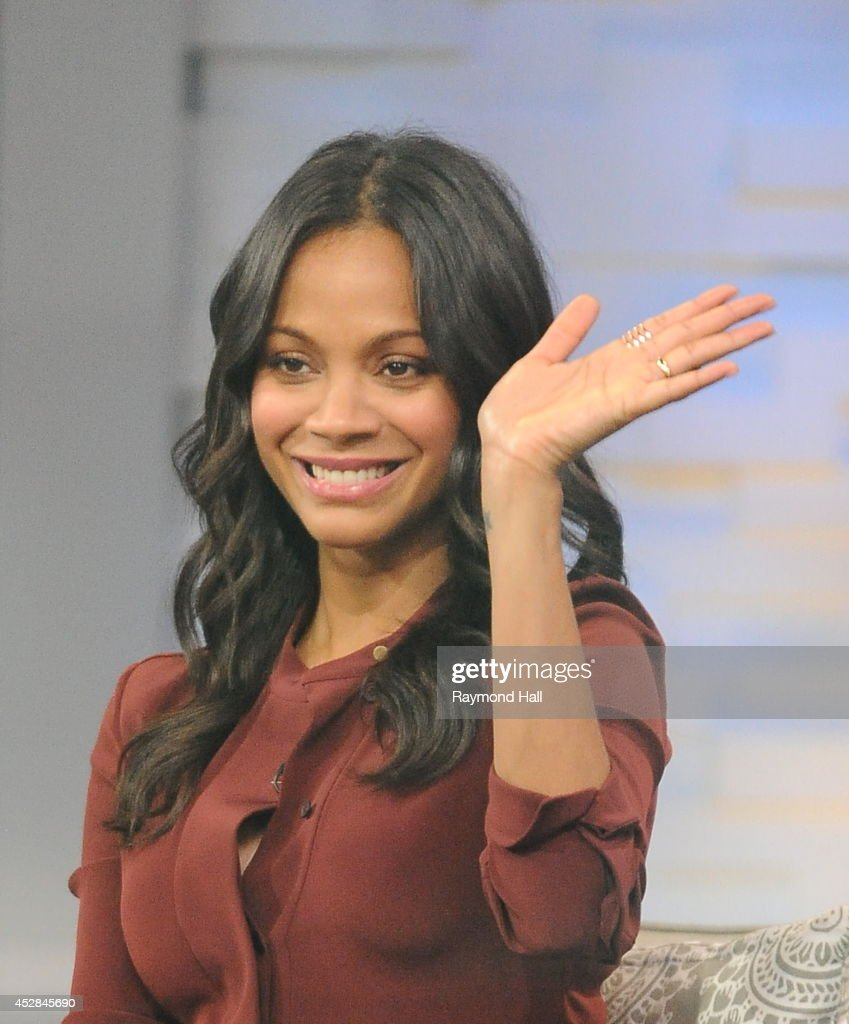 Actress <a gi-track='captionPersonalityLinkClicked' href=/galleries/search?phrase=Zoe+Saldana&family=editorial&specificpeople=542691 ng-click='$event.stopPropagation()'>Zoe Saldana</a> is seen on 'Good Morning America'on July 28, 2014 in New York City.