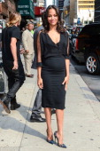 Actress Zoe Saldana leaves the 'Late Show With David Letterman' taping at the Ed Sullivan Theater on July 30 2014 in New York City
