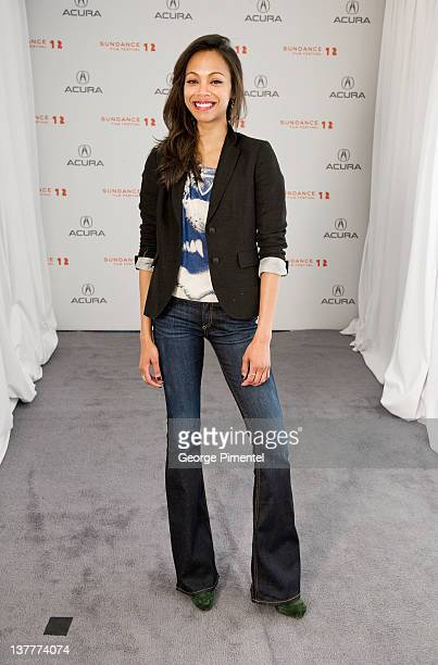 Actress Zoe Saldana poses during the 'The Words' Portraits at the 2012 Sundance Film Festival at Acura Studio on January 26 2012 in Park City Utah