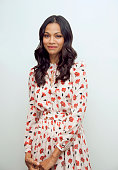 Actress Zoe Saldana poses for a portrait at the 'Infinitely Polar Bear' Press Conference at the Four Seasons Hotel Los Angeles at Beverly Hills on...