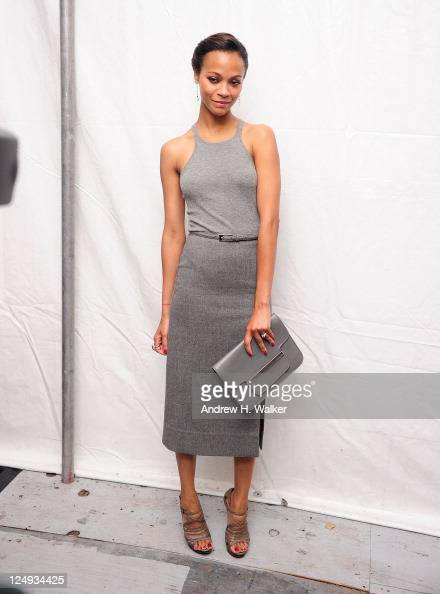 Actress Zoe Saldana seen around Lincoln Center during Spring 2012 MercedesBenz Fashion Week on September 14 2011 in New York City