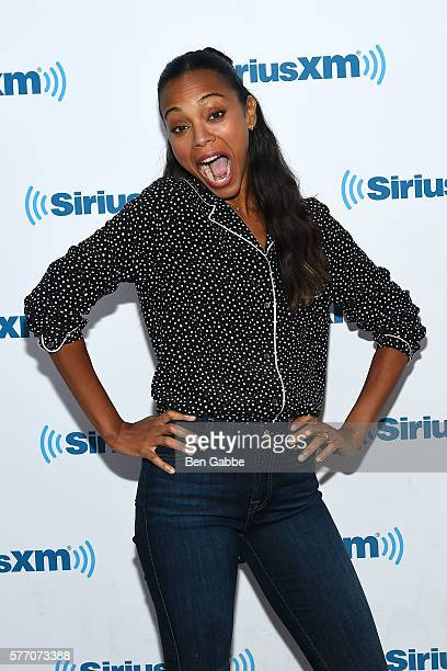Actress Zoe Saldana visits at SiriusXM Studios on July 18 2016 in New York City
