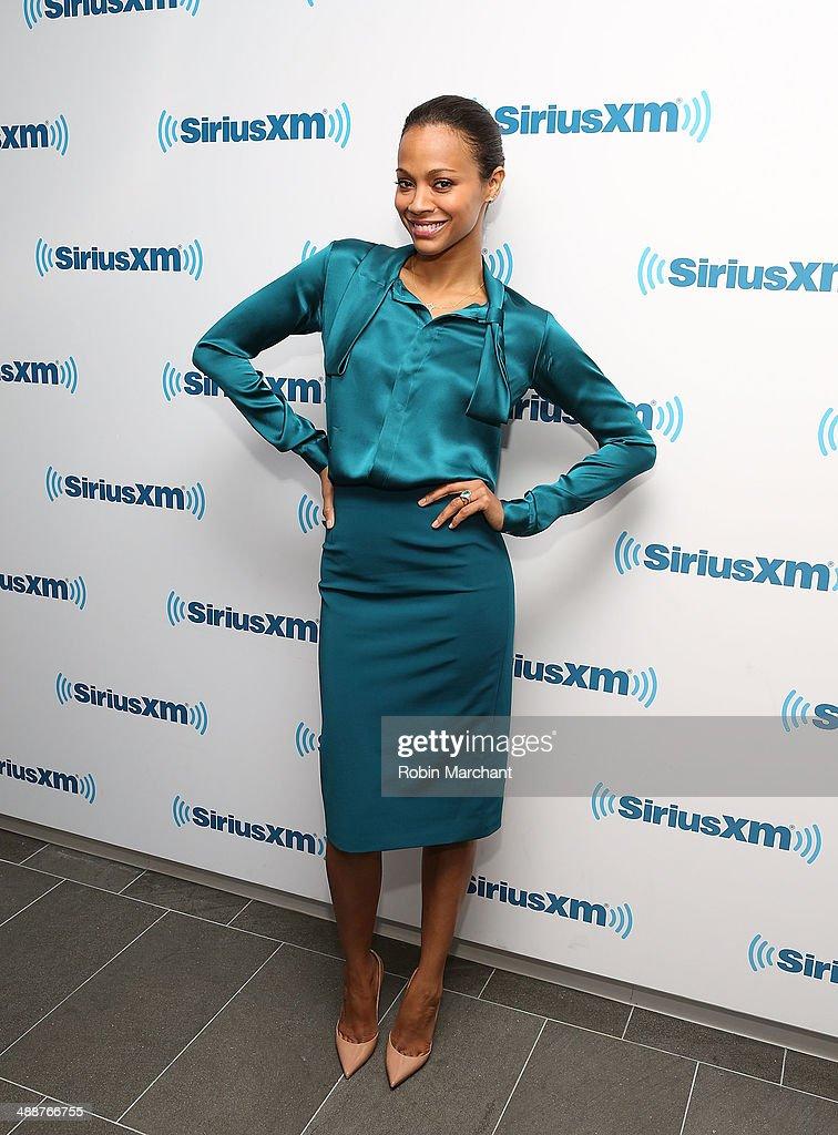 Actress Zoe Saldana visits at SiriusXM Studios on May 8 2014 in New York City