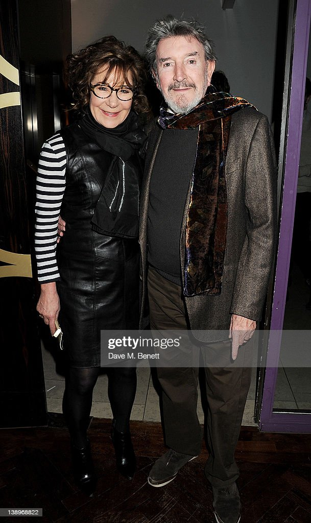 Actress <a gi-track='captionPersonalityLinkClicked' href=/galleries/search?phrase=Zoe+Wanamaker&family=editorial&specificpeople=224028 ng-click='$event.stopPropagation()'>Zoe Wanamaker</a> (L) and cast member Gawn Grainger attend an after party following the press night performance of Donmar Warehouse's 'The Recruiting Officer' at The Hospital Club on February 14, 2012 in London, England.