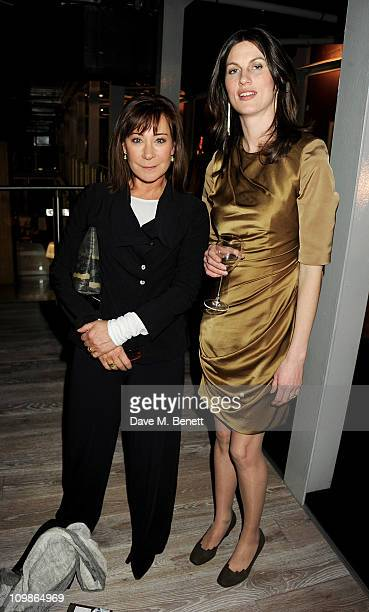 Actress Zoe Wanamaker and founder and director of Birds Eye View Rachel Millward attend the opening night of the Birds Eye View Film Festival at BFI...