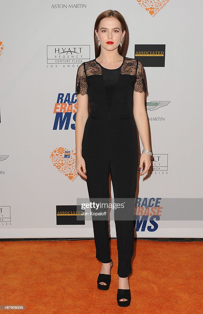 Actress Zoey Deutch arrives at the 21st Annual Race To Erase MS Gala at the Hyatt Regency Century Plaza on May 2, 2014 in Century City, California.