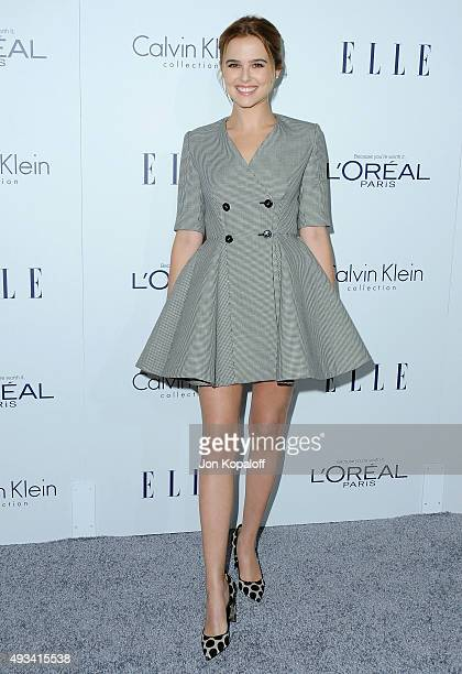 Actress Zoey Deutch arrives at the 22nd Annual ELLE Women In Hollywood Awards at Four Seasons Hotel Los Angeles at Beverly Hills on October 19 2015...