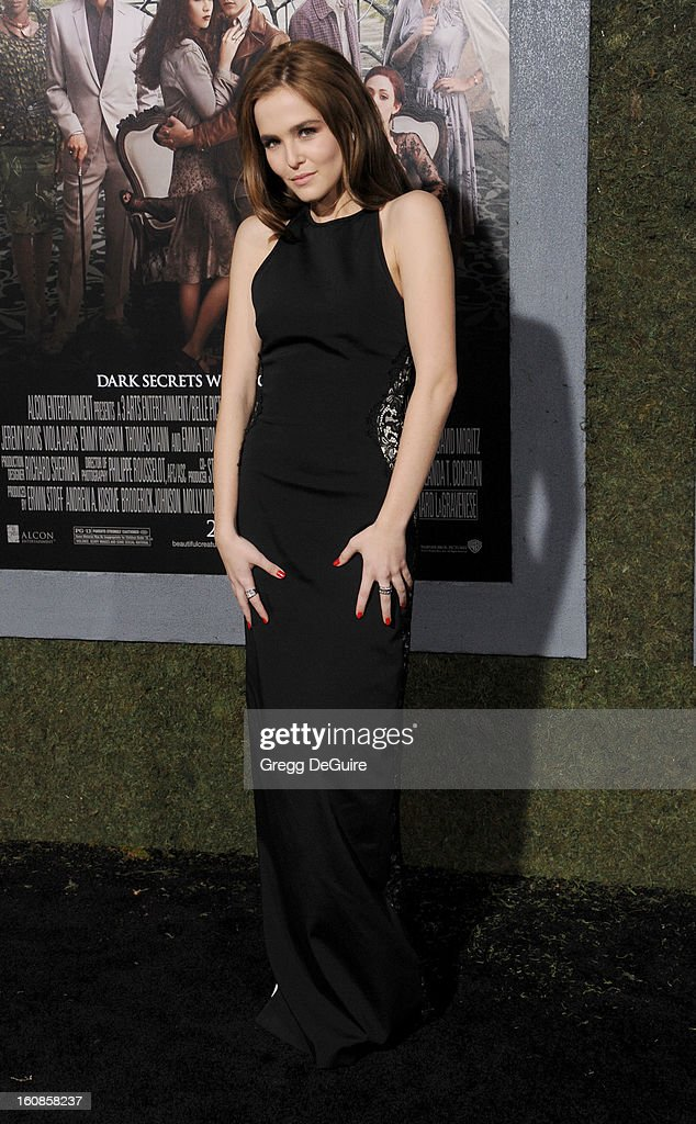 Actress Zoey Deutch arrives at the Los Angeles premiere of 'Beautiful Creatures' at TCL Chinese Theatre on February 6, 2013 in Hollywood, California.