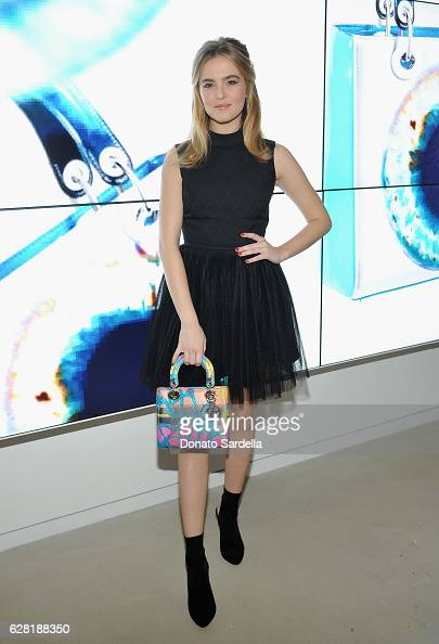 Actress Zoey Deutch attends Dior Lady Art Los Angeles Popup Boutique Opening Event on December 6 2016 in Beverly Hills California