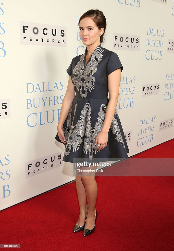 Actress Zoey Deutch attends Focus Features' 'Dallas Buyers Club' premiere at the Academy of Motion Picture Arts and Sciences on October 17, 2013 in Beverly Hills, California.