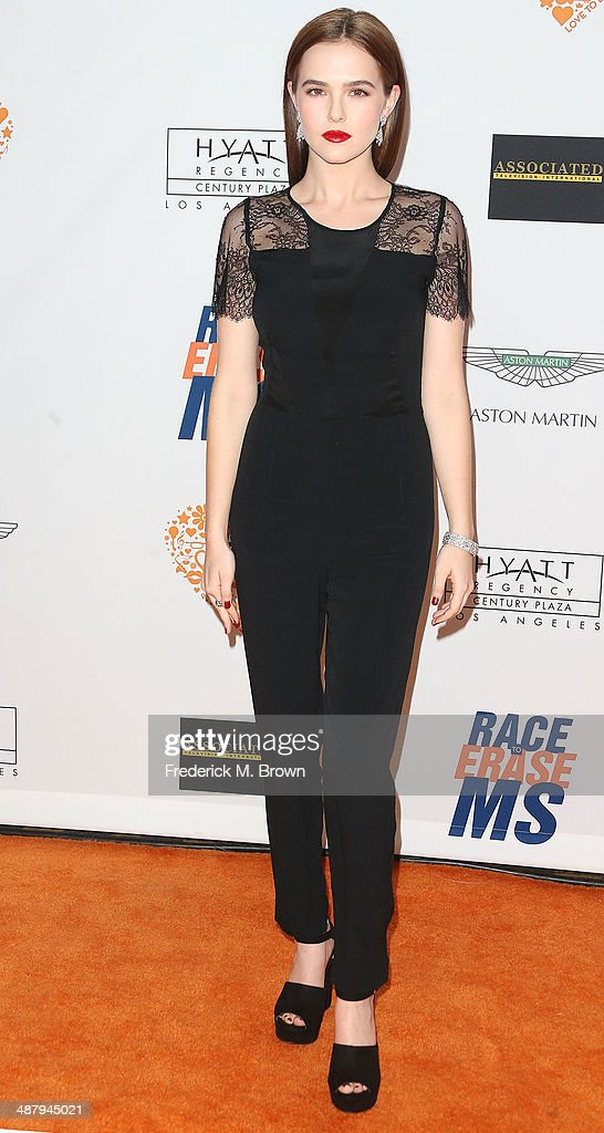 Actress <a gi-track='captionPersonalityLinkClicked' href=/galleries/search?phrase=Zoey+Deutch&family=editorial&specificpeople=4951672 ng-click='$event.stopPropagation()'>Zoey Deutch</a> attends the 21st Annual Race to Erase MS at the Hyatt Regency Century Plaza Hotel on May 2, 2014 in Century City, California.