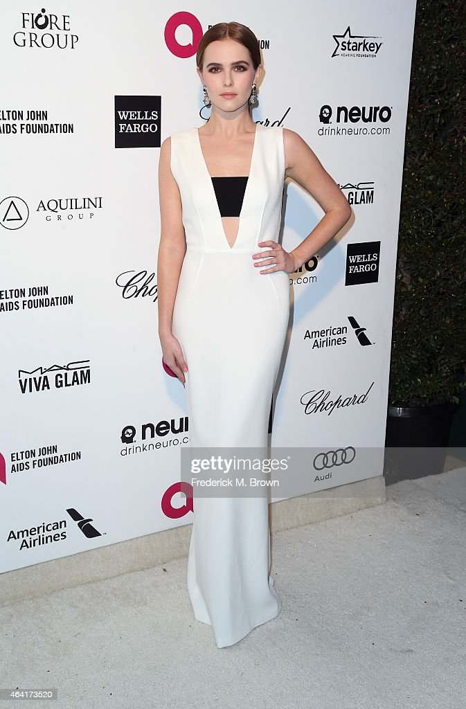 Actress Zoey Deutch attends the 23rd Annual Elton John AIDS Foundation's Oscar Viewing Party on February 22 2015 in West Hollywood California