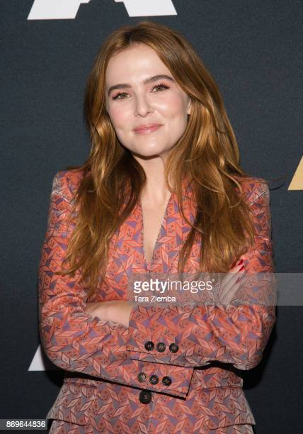 Actress Zoey Deutch attends the Academy Nicholl Fellowships in Screenwriting Awards presentation and live read at Samuel Goldwyn Theater on November...