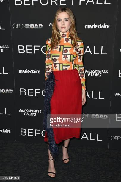 Actress Zoey Deutch attends the Before I Fall' New York Special Screeing at Landmark Sunshine Cinema on February 28 2017 in New York City