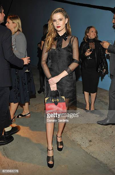 Actress Zoey Deutch attends the premiere of 'Past Forward' a movie by David O Russell presented by Prada on November 15 2016 at Hauser Wirth Schimmel...