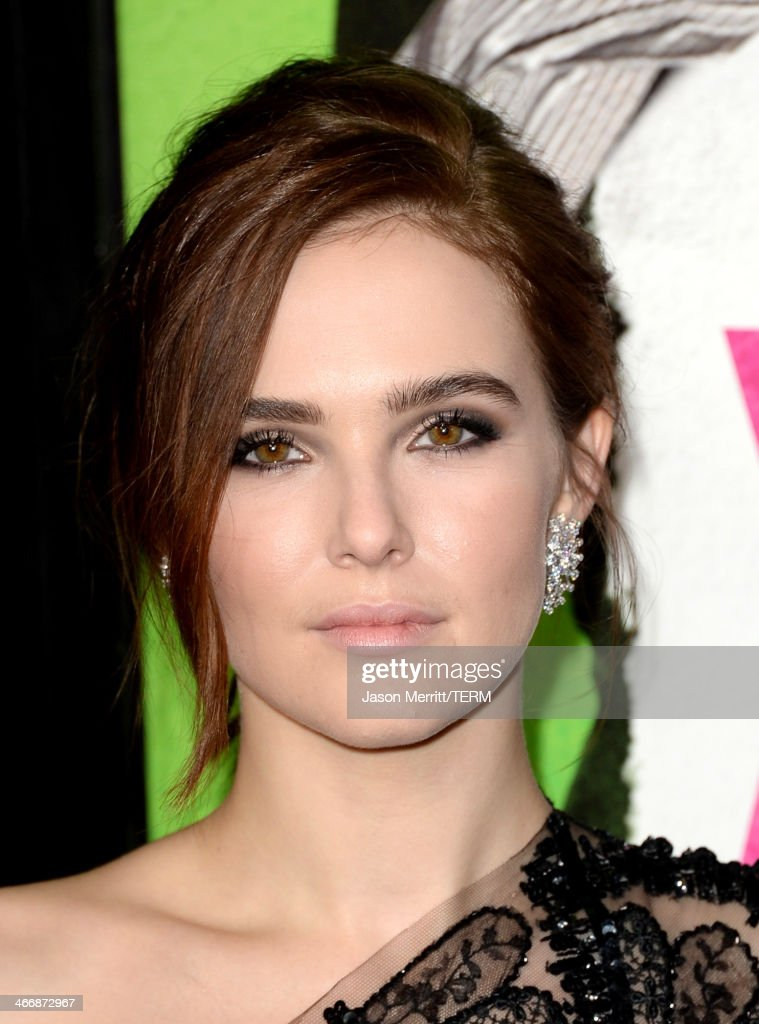 Actress Zoey Deutch attends the premiere of The Weinstein Company's 'Vampire Academy' at Regal Cinemas LA Live on February 4 2014 in Los Angeles...