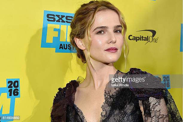 Actress Zoey Deutch attends the screening of 'Everybody Wants Some' during the 2016 SXSW Music Film Interactive Festival at Paramount Theatre on...