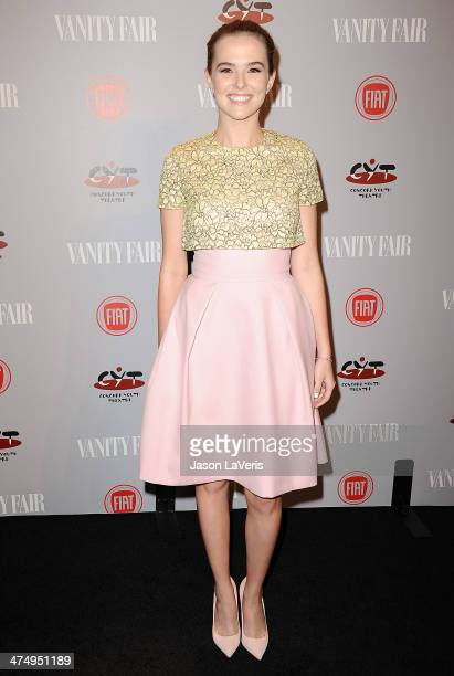 Actress Zoey Deutch attends the Vanity Fair Campaign Young Hollywood party at No Vacancy on February 25 2014 in Los Angeles California