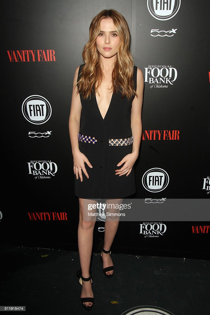 Actress Zoey Deutch attends Vanity Fair and FIAT Toast To 'Young Hollywood' at Chateau Marmont on February 23 2016 in Los Angeles California
